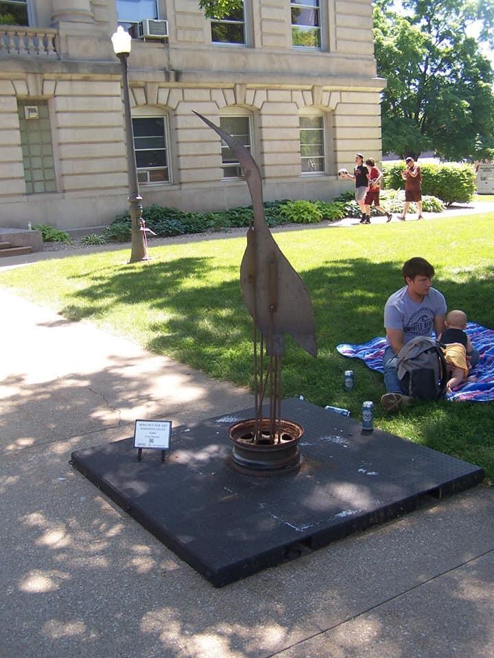Sculpture in City of Jefferson Iowa