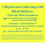 Big Dream Gathering with Mitch Matthews in Jefferson