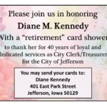 Retirement Card Shower for Diane Kennedy
